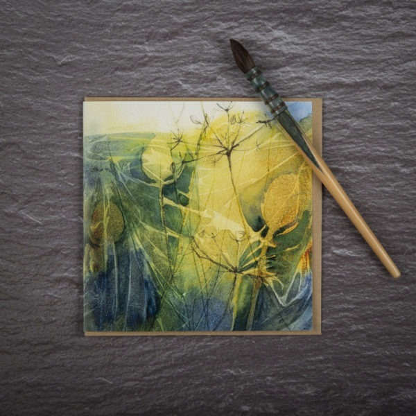 A Tangle of Teasels Card