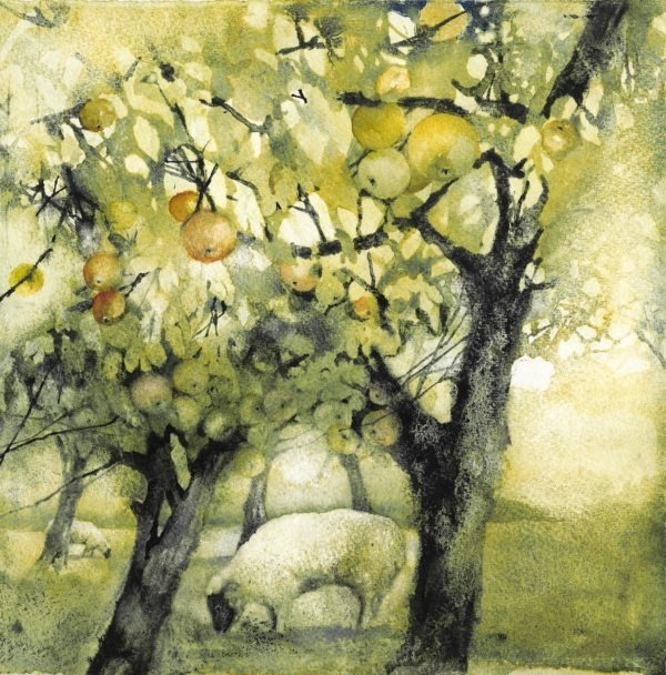 Golden Orchard original print by Jackie Henderson